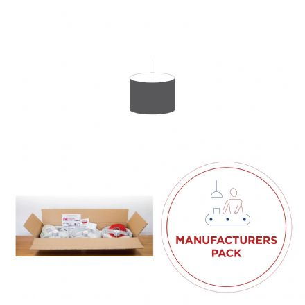25cm Manufacturers Pack -  30 Drum Double-Sided  Lampshades
